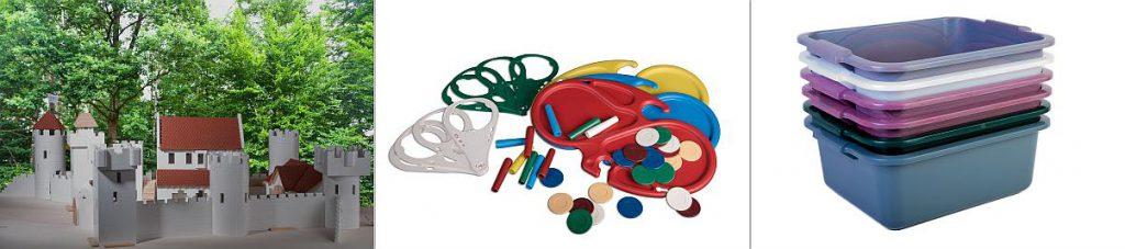Auch Produkte für Endverbraucher, wie Kunststoffbausteine, Becherhalter oder Kunststoffbehälter, werden bei Metak hergestellt. (Fotos: Metak)