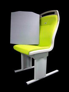 Komfortable Rückenpolsterung aus Melaminschaumstoff in Bahnsitzen auf US-Schienen. (Foto: Rogers Corporation)