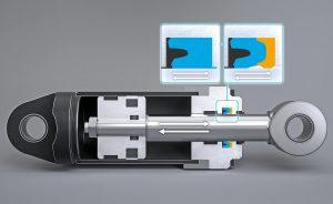 Damit Dichtelemente nicht in den Extrusionsspalt gelangen (Detailbild links), entwickelt Freudenberg Sealing Technologies Zwei-Komponenten-Dichtungen mit bedarfsgerechter Festigkeit. (Abb.: Freudenberg)