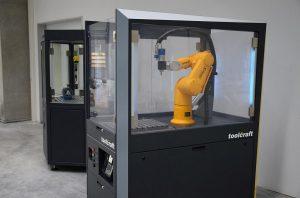 Die Schulungszelle zum einfachen Aufbau von Robotik Know-how. (Foto: Toolcraft)