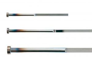 Die neuen Flachauswerfer über zwei bzw. vier Eckenradien über die gesamte Länge des Auswerferschwertes. (Foto: Hasco)