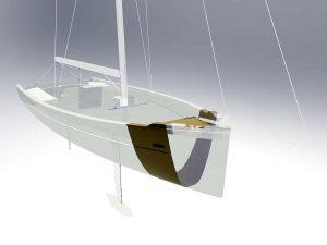 Für den Rumpf einer Yacht wurden zwei Materialien aus dem neuen Thermocomp-AM-Portfolio gewählt. (Abb.: Sabic)