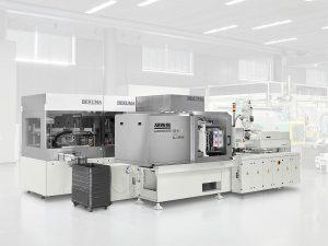 Der elektrische Allrounder 520 A mit Edelstahl-Schließeinheit erfüllt die hohen Qualitätsanfordrungen bei der Produktion medizintechnischer Teile. (Foto: Arburg)
