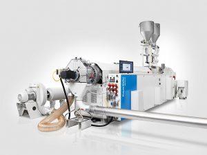 PVC Granulieranlage, wie sie bei Polymer Compound eingesetzt wird. (Foto: Krauss Maffei Berstorff)