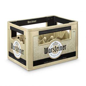 Der neue Warstein Bierkasten kommt mit neuer Optik und gutem Tragekomfort auf den Markt. (Foto: Schoeller Allibert)