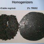 Erfolgreiche Draht-/Kabel-Mahlguthomogenisierung mit 2 % Struktol TR052. (Fotos: Struktol)