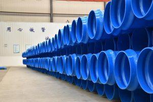 Biaxial orientierte PVC-O Rohre. (Foto: Krauss Maffei Berstorff)