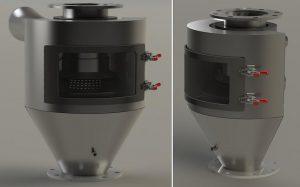 Der halbrunde HR45 DeDuster löst das aktuelle Modell XP45 ab. (Foto: Pelletron)