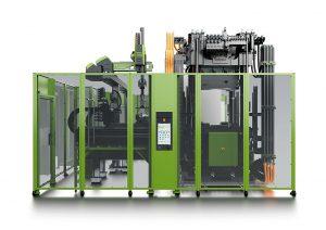 Mit der v-duo-Baureihe hat Engel gezielt für Faserverbundanwendungen eine kompakte und energieeffiziente Maschine für effiziente Fertigungszellen entwickelt. (Foto: Engel)
