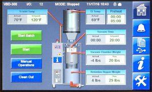 Der Touchscreen ermöglicht die einfache Einstellung aller Trocknungsparameter. (Abb.: Maguire)