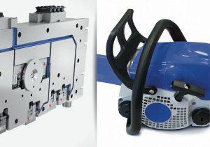 Die Flexflow-Heißkanaltechnologie ist eine gute Lösung für das GID-Spritzgießen des innen hohlen Griffbügels für eine Kettensäge. (Foto: HRSflow)