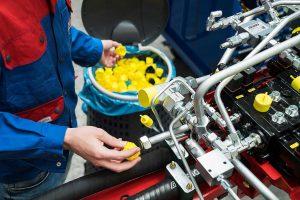 Starter-Projekte mit namhaften Kunden: Nach der Demontage werden die Kapsto-Schutzelemente gesammelt und zum Recycling zurückgeführt. (Foto: Pöppelmann)