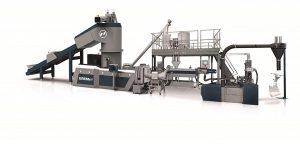 Die Corema kombiniert die Vorteile von Recycling und Compounding in einer Anlage. (Foto: Erema)