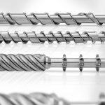 Schnecken mit ausgewogenen Mischelementen zur Homogenisierung der Schmelze – für den Einsatz in der Polymerverarbeitung. (Foto: KraussMaffei Berstorff)