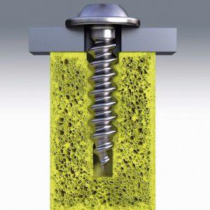 Die Cell PT von Ejot: materialschonendes Gewindeprägen durch elastische Umformung im Tubus. (Foto: Ejot)