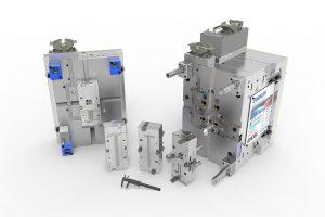 Das von Braunform gebaute Werkzeug mit patentierter Schnellwechselmechanik erlaubt Produktwechsel in einer Minute. (Foto: Braunform)
