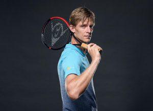 Die neue CX-Serie von Dunlop mit Komponenten aus dem E-TPU Infinergy wurde für moderne Tennisspieler wie Kevin Anderson entwickelt. (Foto: Dunlop)