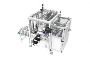 Hochleistungs-IML-Automation von Beck mit Vier-Kavitäten-Werkzeug für Leichtgewicht-Becher. (Foto: Beck Automation)