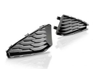 Die Designblenden im Bereich der Kopfstütze bestehen aus dem transparenten Polyamid Grilamid TR Piano Black. (Foto: Ems-Chemie)