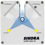 Abb. 3: Funktionsprinzip Durchmessermessung mit Laserdioden und Zeilensensoren. (Abb.: Sikora)