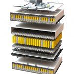 Die Li-Ionen-Heimspeicher von BMZ verwenden ein PC+ABS-Blend von Covestro, um die einzelnen Batteriezellen in einem sogenannten Zellhalter sicher zu platzieren. (Foto: BMZ)