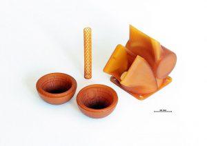 Hochtemperaturbeständige Bauteile aus ThermoBlast für extreme Prozessumgebungen. (Foto: Cubicure)