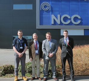 v.l.: Sean Cooper (NCC), Graeme Herlihy (Engel), Paul Gallen und Christian Wolfsberger (Engel). (Foto: NCC)