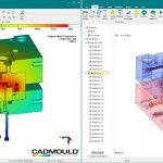 Mit der verbesserten T-Box erstellt die neue Cadmould-Version eine hochpräzise 3D-Simulation der Temperaturverläufe. (Abb.: Simcon)