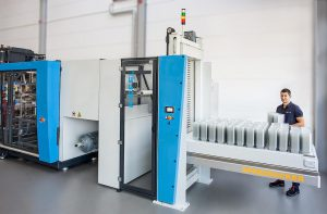 Die Puffer- und Entnahmestation SpeedPacker kann auch nachgerüstet werden. (Foto: Kiefel)