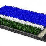 Die Filamente des neue Hockeyrasen Poligras Tokyo GT bestehen zu über 60 % aus einem biobasierten Kunststoff von Braskem. (Foto: Polytan)