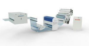 Equipment zur Folienextrusion, Heißlufttrockner, Rotorsprühsysteme, Corona-Technologien und Film- Cylinder-Cleaning. (Foto: Baldwin)