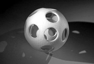 Demo-Bauteil aus dem neuen Kunststoffpulver der Polyamid 6-Reihe. (Foto: Evonik)
