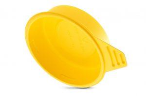 Materialsparende Herstellung, stapelbares Design: Eco-Griffstopfen GPN 480 mit Grifflasche aus PS. (Foto: Pöppelmann)