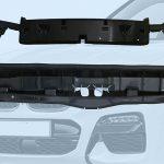 Geiger Automotive setzt das in Europa und den USA in übereinstimmender Qualität hergestellte PP-Rezyklat zur Herstellung der dünnwandigen Teile für das Luftführungselement ein, das die Kühlluft zu den Motoren des BMW X3 leitet. (Foto: Resinex)