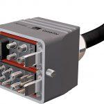 CombiTac mit einer doppelreihigen Konfiguration; integriert in ein DIN-Gehäuse. (Foto: Stäubli)