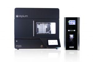 Industrieller 3D-Drucker Apium P220 mit Filament-Trockner. (Foto: Apium)