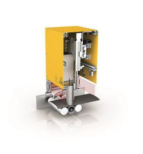 Das neue berührungslose Inline-Messgerät C-Check sichert die Leitfähigkeit des Chimney-Streifens. (Foto: KraussMaffei Berstorff)