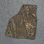 Fußmatte in grobem Holz-Design. (Foto: Nordson)