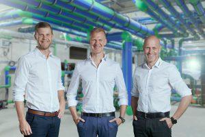 v.l.n.r.: Geschäftsführer Christof, Maik und Dirk Rosenberg. (Foto: Aquatherm)