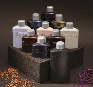 Metallic und Pastell: Dunkles Recyclingmaterial und Chargenschwankungen spiele dank eines neuen Verfahrens keine Rolle mehr. (Foto: Karl Finke)