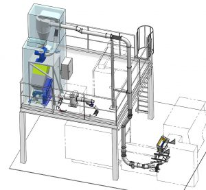 Für die prozessintegrierte und kontinuierliche Wiederaufbereitung von Espresso-Kapseln aus dem Thermoforming realisierte Getecha eine komplette Systemlösung. (Foto: Getecha)