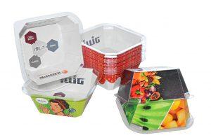 Die neue Kunststoff-Karton-Verpackung IML-T Cardboard. (Foto: Illig)