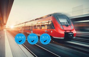Die TPE-Serie FR2 erfüllt die Bahnnorm DIN 45545-2. (Foto: Kraiburg TPE)