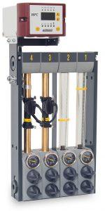 Hier ist für zwei Durchflusskreise die WFC Nachrüstung ausgeführt. (Foto: Wittmann)