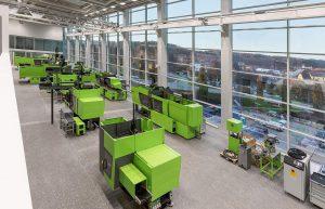 Das neue Technikum ist mit den weiteren weltweiten Kundentechnika der Engel-Gruppe vernetzt. (Foto: Engel)