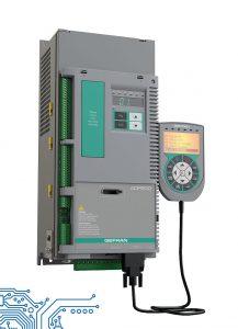 Der Frequenzumrichter ADP 200 ist speziell für hybride Spritzgießmaschinen mit Servopumpe ausgelegt. (Foto: Gefran)