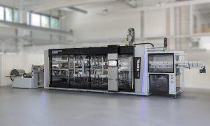 Speedformer KMD 64.2 Speed – der kleine Bruder des KMD 78.2 Speed, erstmals vorgestellt am Kiefel Packaging Dialogue Day. (Foto: Kiefel)