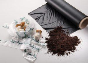Mit dem kompostierbaren Kunststoff ecovio kann die Kreislaufwirtschaft – von der Produktion über die Verpackung und den Transport bis zur Abfallsammlung von Lebensmitteln – gefördert werden. (Foto: BASF)