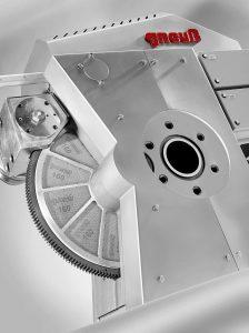 Der ausgestellte, neue Rotationsfilter im Maschinenspektrum von Gneuß SFneos 90 hat eine aktive Filterfläche von 260 cm². (Foto:: Gneuß)