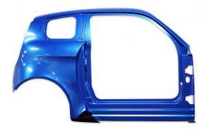 Basis des e.Go Elektroautos sind die in Thermoform-Bauweise hergestellten Teile aus ABS-PMMA Platten in neuen Metallic-Tönen. (Foto: Senoplast)